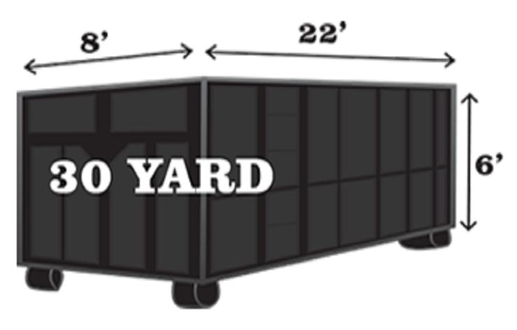 roll off dumpster rental 30 yard