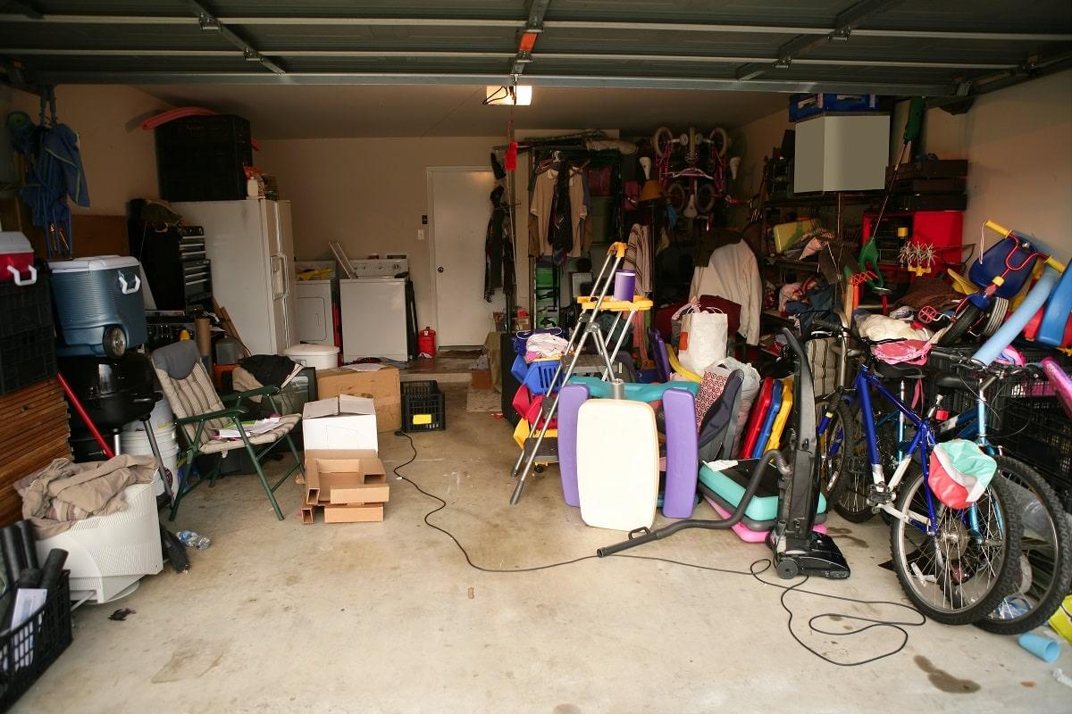 decluttering the garage