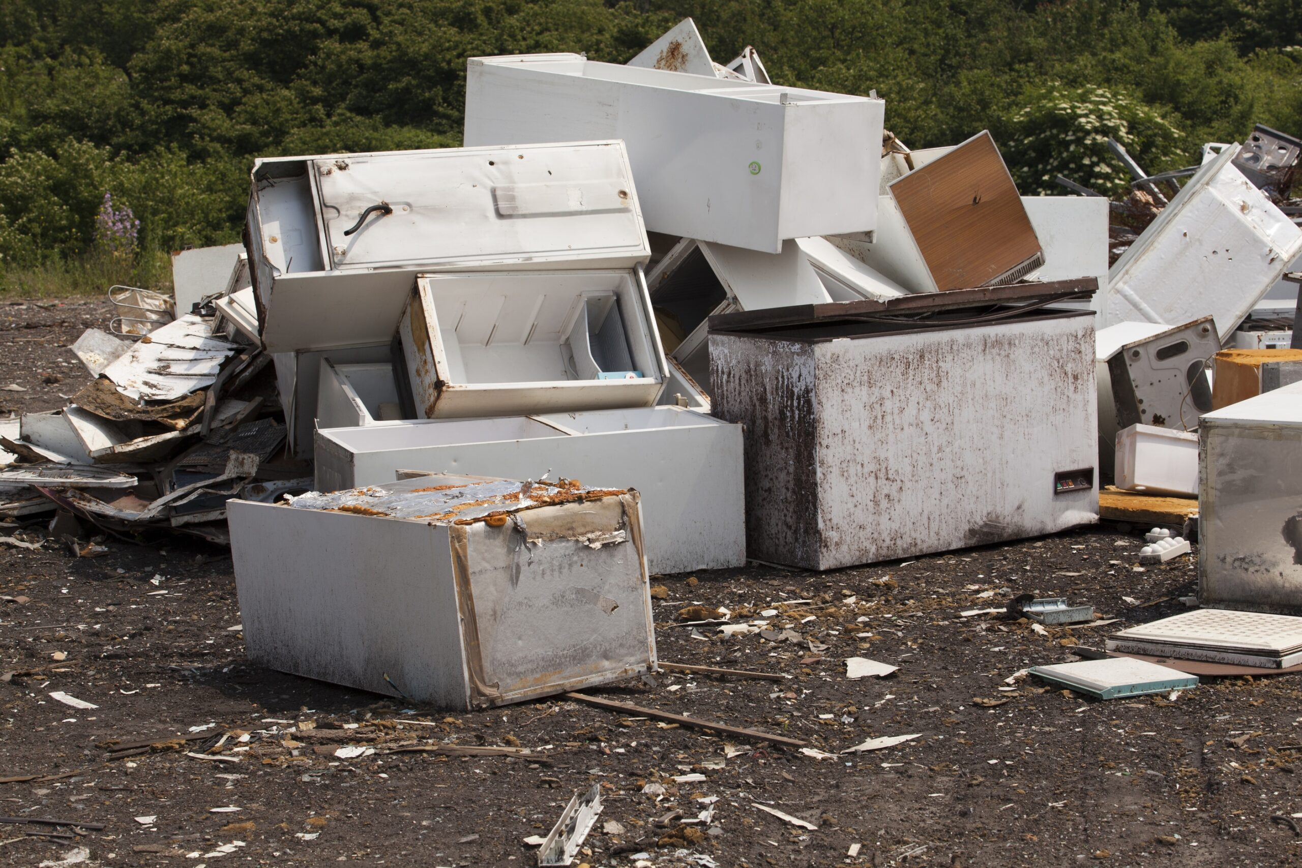 old appliances fit into cheap dumpster rental