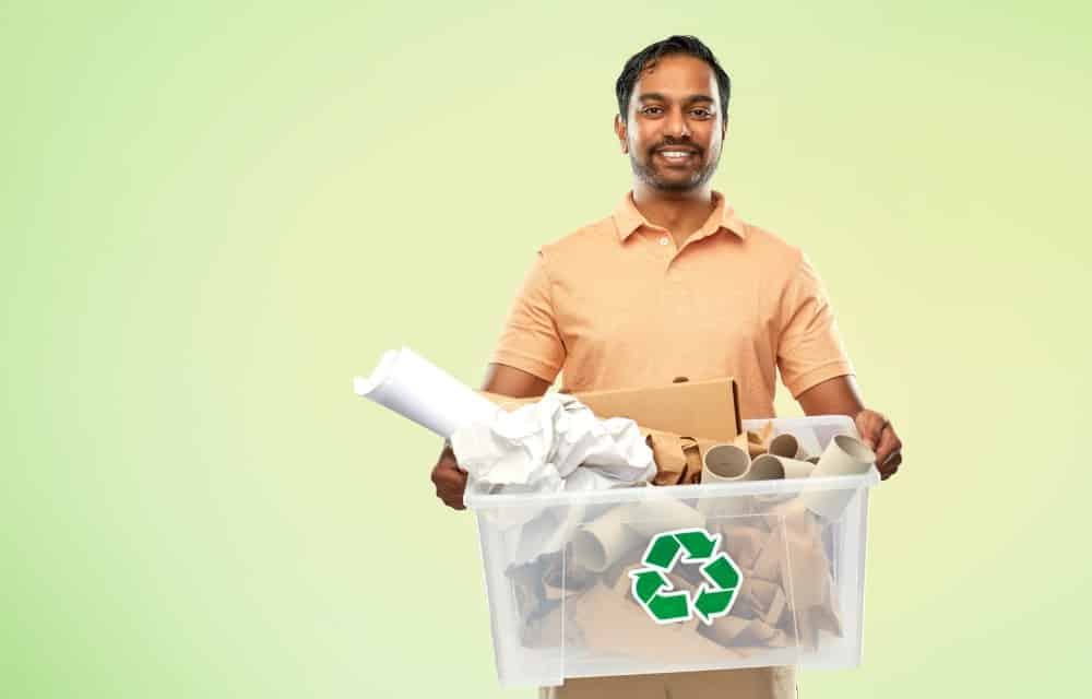 recycling waste and using a 30 yard dumpster rental