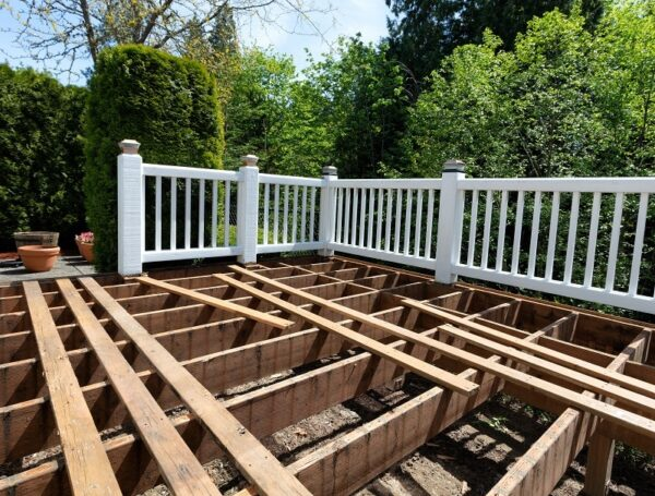 renting a dumpster for deck construction