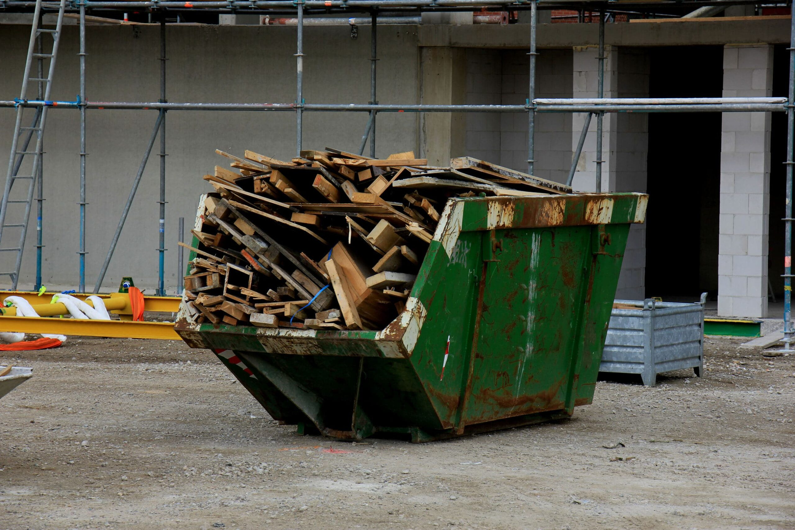 debris and trash fit into cheap dumpster rentals